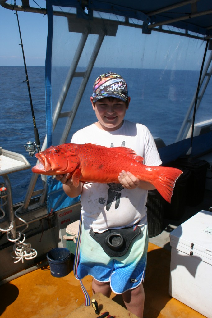 Jack with Coral Trout - September 2012