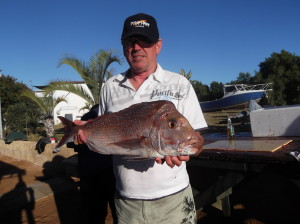 The competition is underway and Alan is leading the way so far with his 780mm Pink Snapper caught on Thursday.